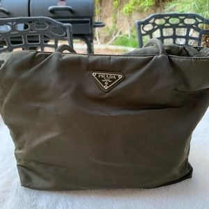 Prada brown/green tote or shoulder bag